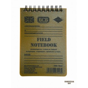 Waterproof  Field Notebook with Pencil